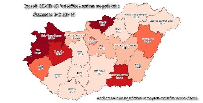 67 új koronavírus-fertőzött Szabolcs-Szatmár-Bereg megyében