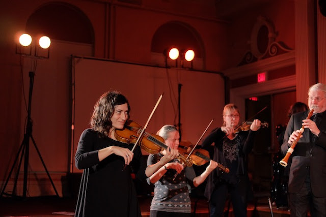 Tafelmusik and Elisa Citterio in rehearsal (Photo Jeff Higgins)