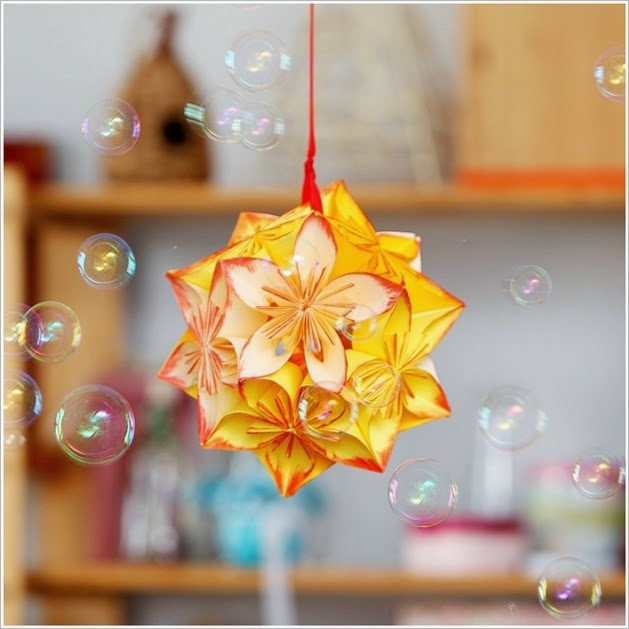 [DIY] Origami Flower Ball Idea