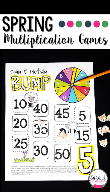 Spring multiplication games for learning fun!