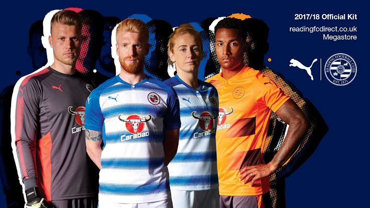 Reading FC 17-18 Home Jersey. This is the new Reading 2017-18 home strip. 6a12e1fc4