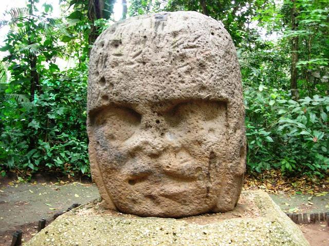 Monument 3, Olmec sculpture, La Venta Museum, Villahermos
