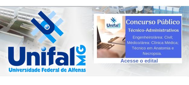 Concurso Unifal: Inscrições e Edital TAE 2018