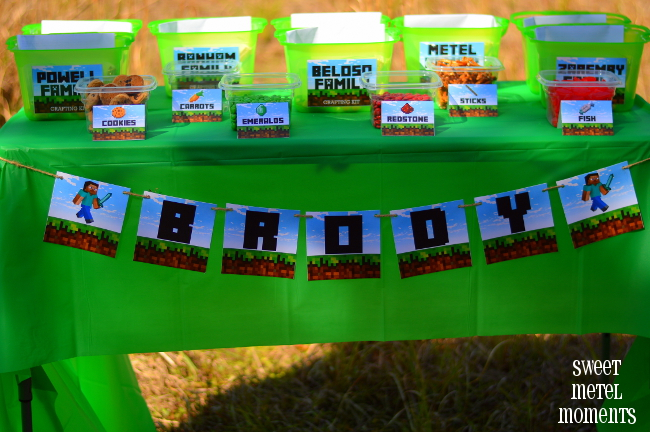 Sweet Metel Moments Brody\u0027s Minecraft Party  Free Printable (Part 1)