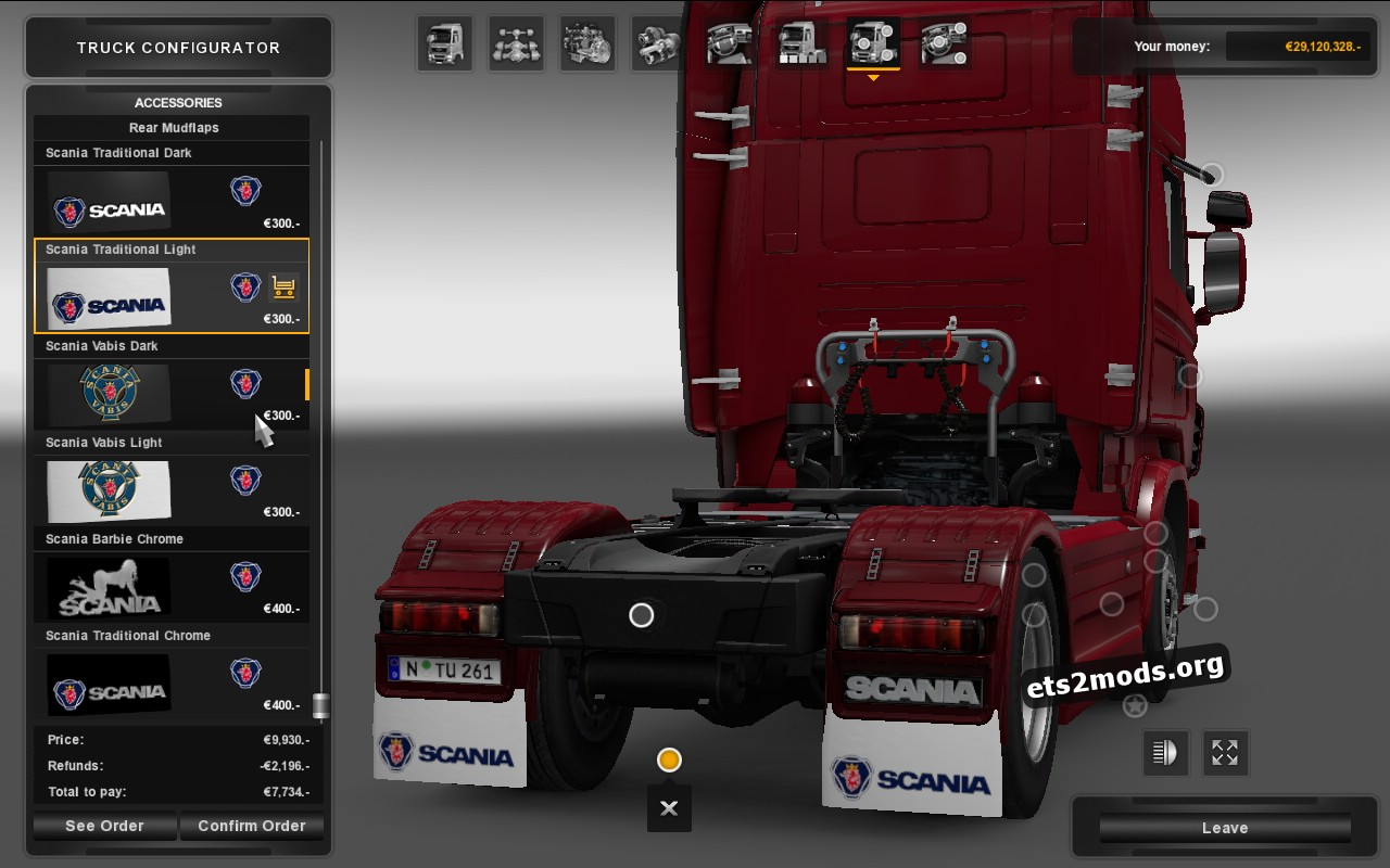 Mudflap Pack Scania V 1.3