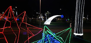 Inaugurada decoração de fim de ano em João Pessoa; fotos