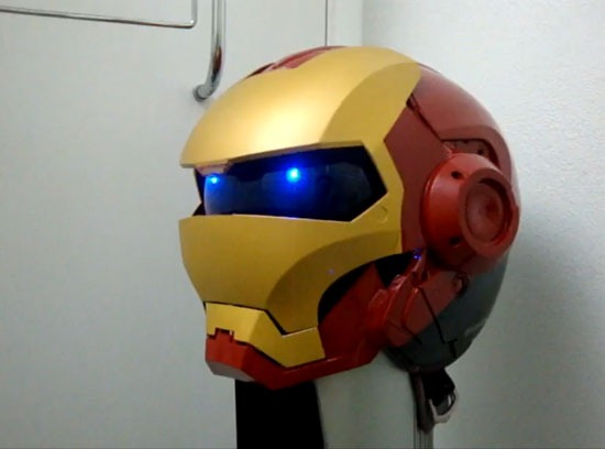Diseño de casco  de motos de Iron Man