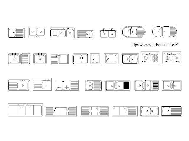 Kitchen Sink set cad blocks free download - 25+ free cad blocks