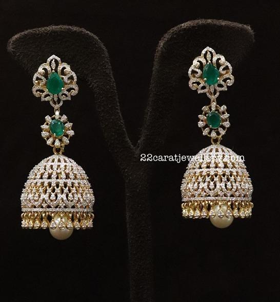 Latest jhumkas by Ananth Diamonds