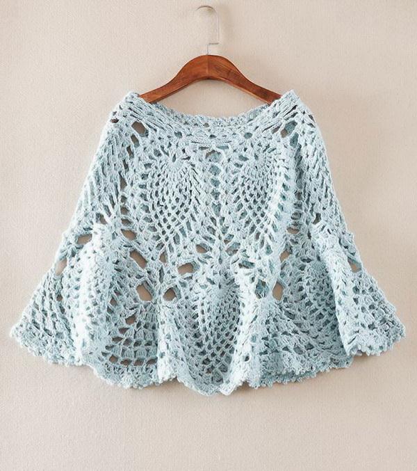 Crochet Poncho - Lace Poncho
