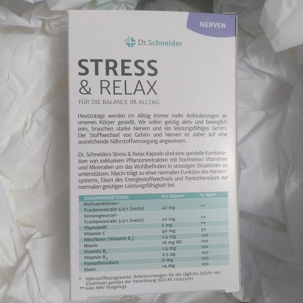 Dr. Schneider Stress & Relax Nährstoffbezugwerte Vitamine
