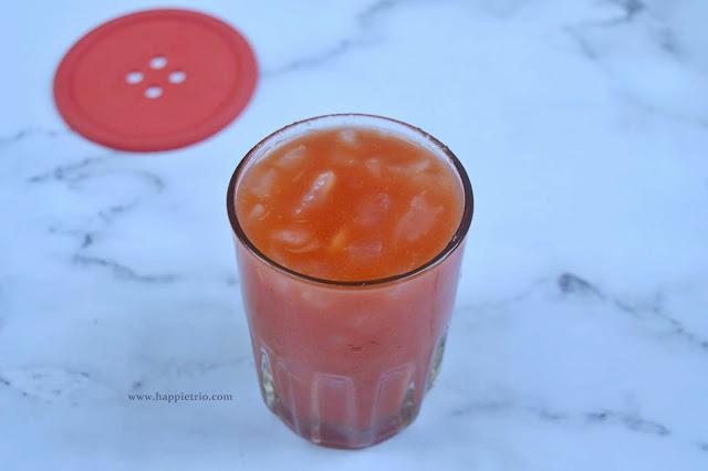 WaterMelon Ice Apple Juice Recipe | Watermelon Nungu Juice