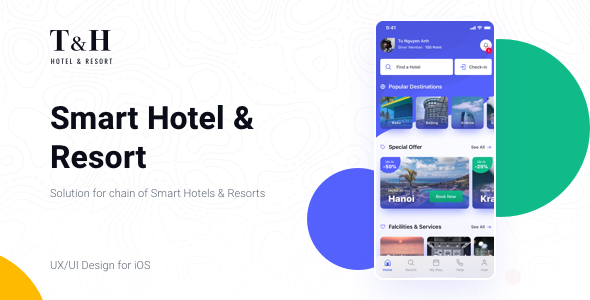 T&H - Smart Hotel & Resort Apps Sketch Templates