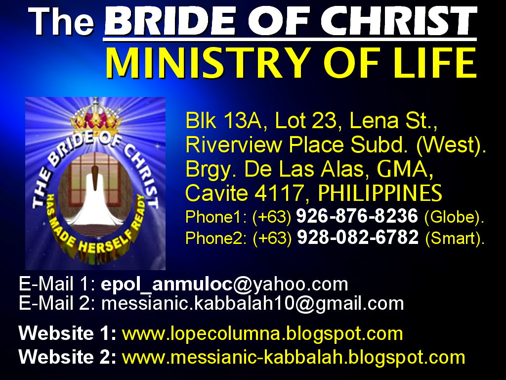the bride of christ ministry of life why did god choose the