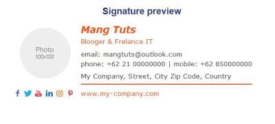 contoh tanda tangan pada email
