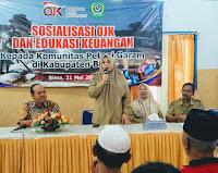 75 Petani Garam di Kabupaten Bima Ikuti Sosialisasi dan Edukasi OJK