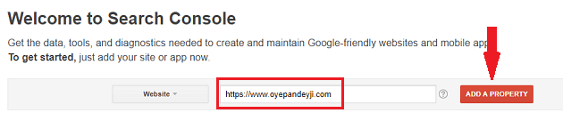 submit url to search console