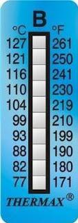 THERMAX Temperature Label 10 Level Range B