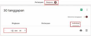 Respons Pendaftaran Online