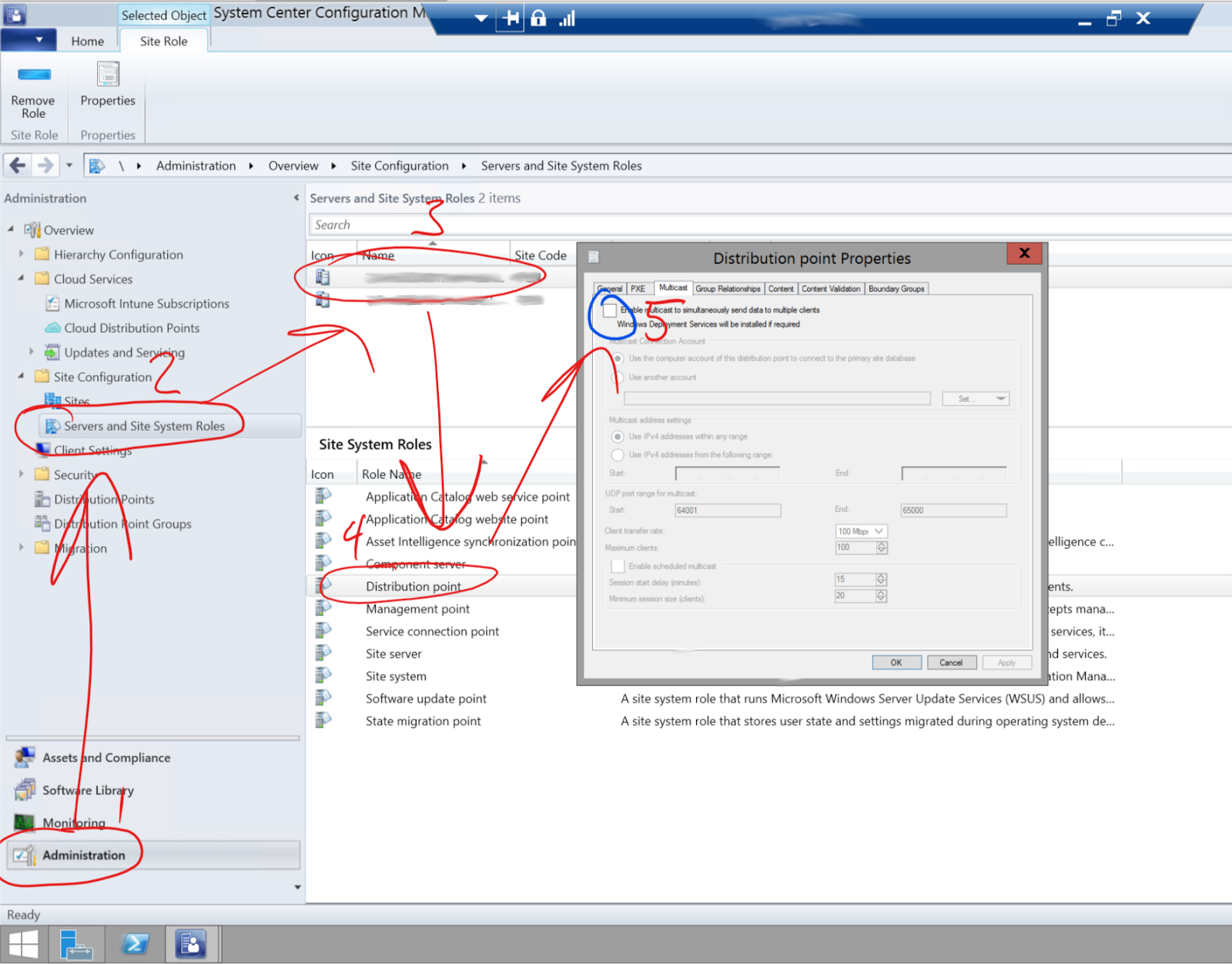 Adam Arkwright   Technical Blog: Enable Multicast   SCCM 2012