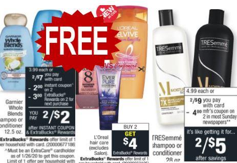 free hair care cvs