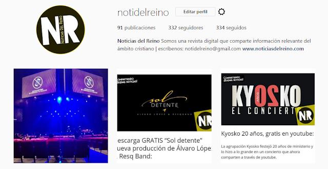 http://instagram/notidelreino.com