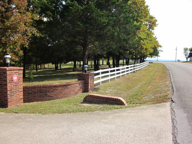 Brick Driveway Pillars Entrance