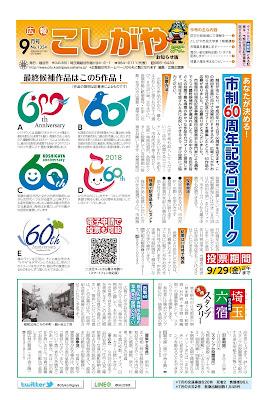 広報こしがやお知らせ版 平成29年9月