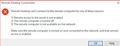RDP Error In Microsoft Azure
