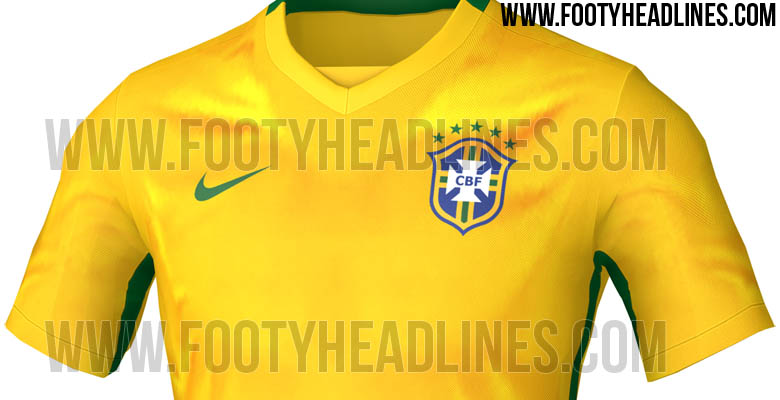 Brazil 2015 Copa America Home Kit Leaked - Footy Headlines bf87ee295c