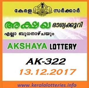 Akshaya AK-323 Kerala lottery result on 13.Dec.2017
