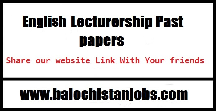 BPSC English Lecturer Past Papers