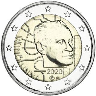 Kaksi euroa kolikko Suomi 2020