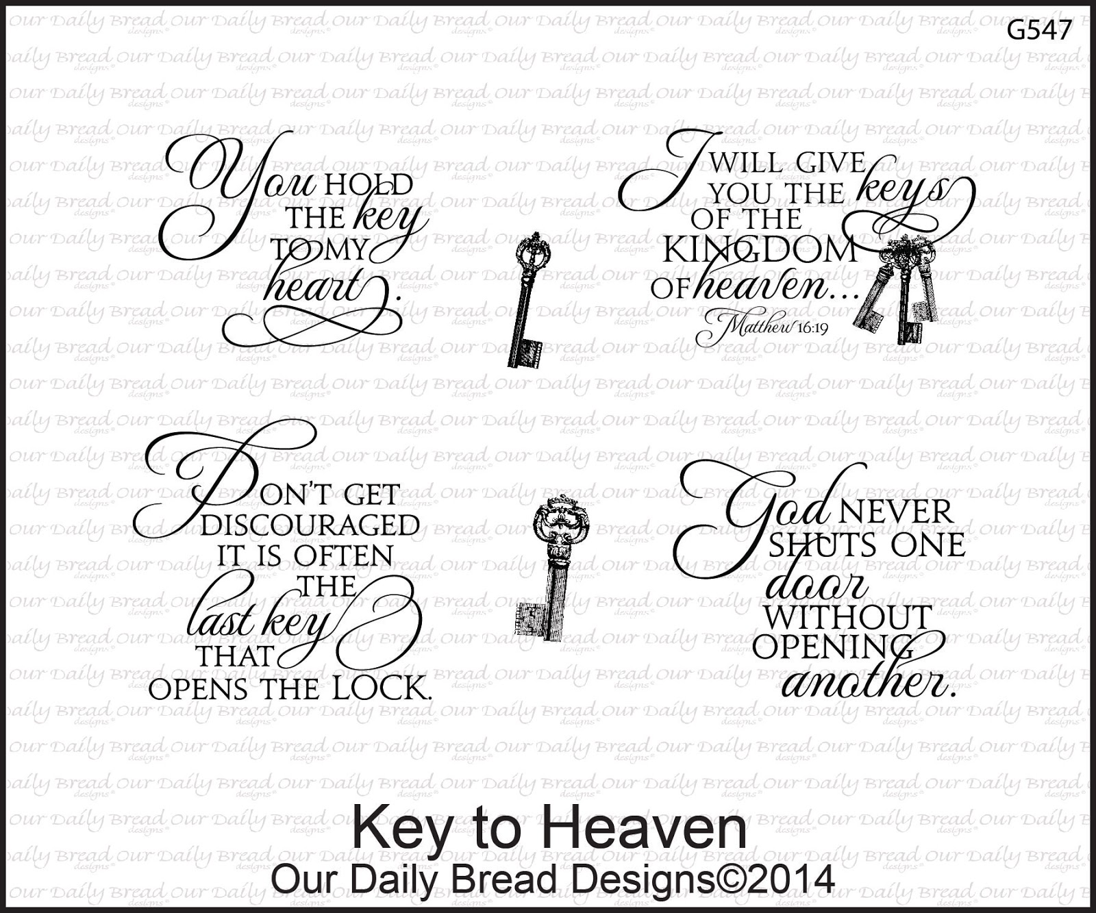 Stamps - Our Daily Bread Designs Key to Heaven