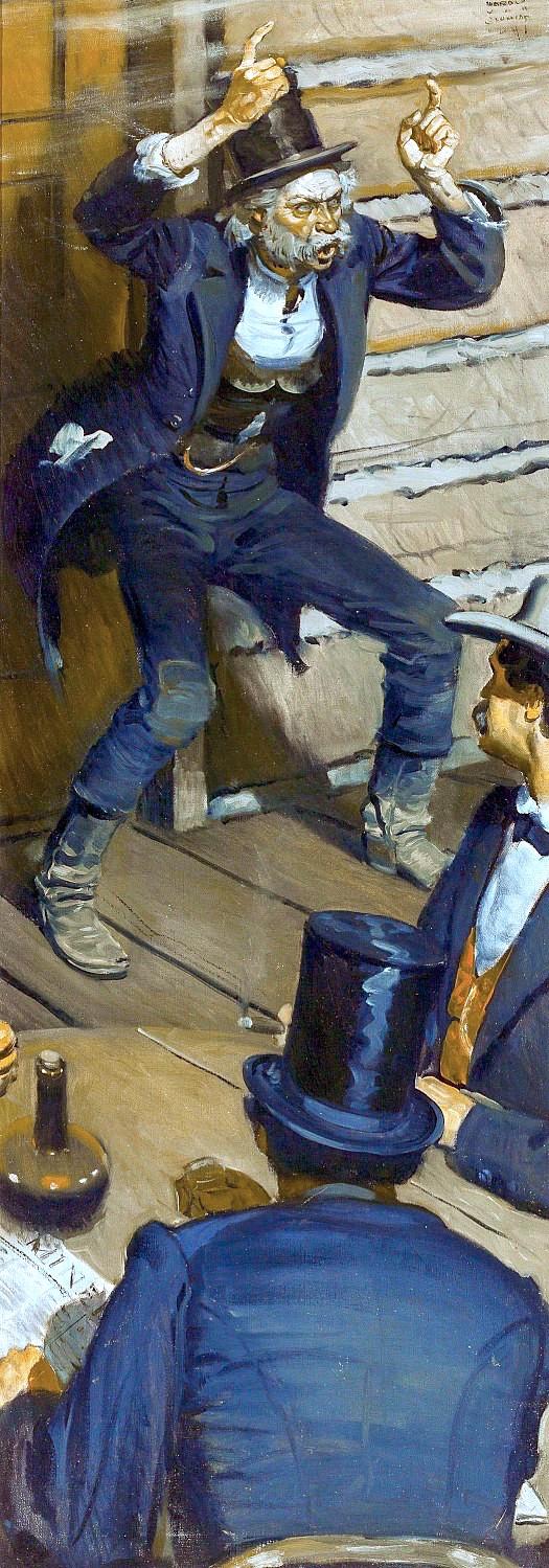 a Harold Von Schmidt color illustration