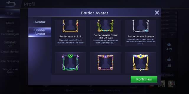 Cara Mendapatkan Border Avatar Speedy ML Gratis