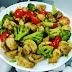 Mushroom and Broccoli-Quick tossed Salad