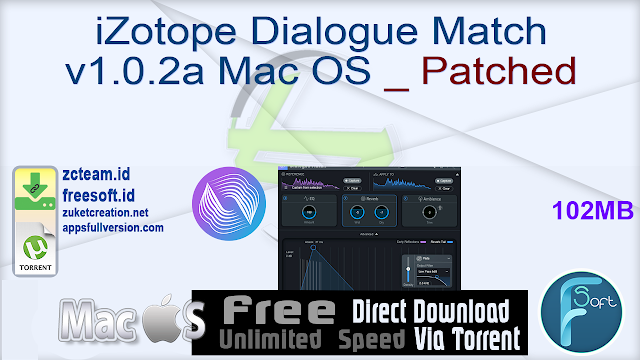 iZotope Dialogue Match v1.0.2a Mac OS _ Patched