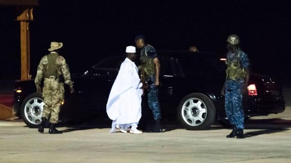 Check out the last photos of Gambia's ex-president, Yahya Jammeh, as he lfet the country on exile