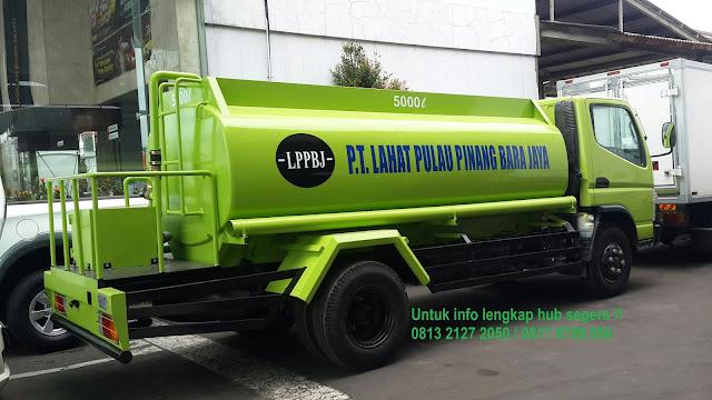 harga truk tangki air siram mitsubishi canter 2019, truk tangki colt diesel 2019