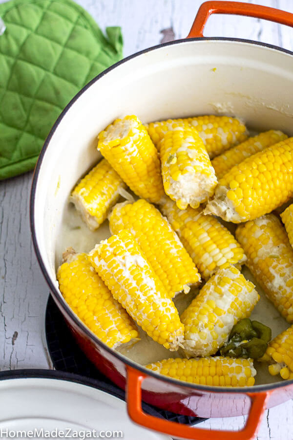 FInished corn boiled