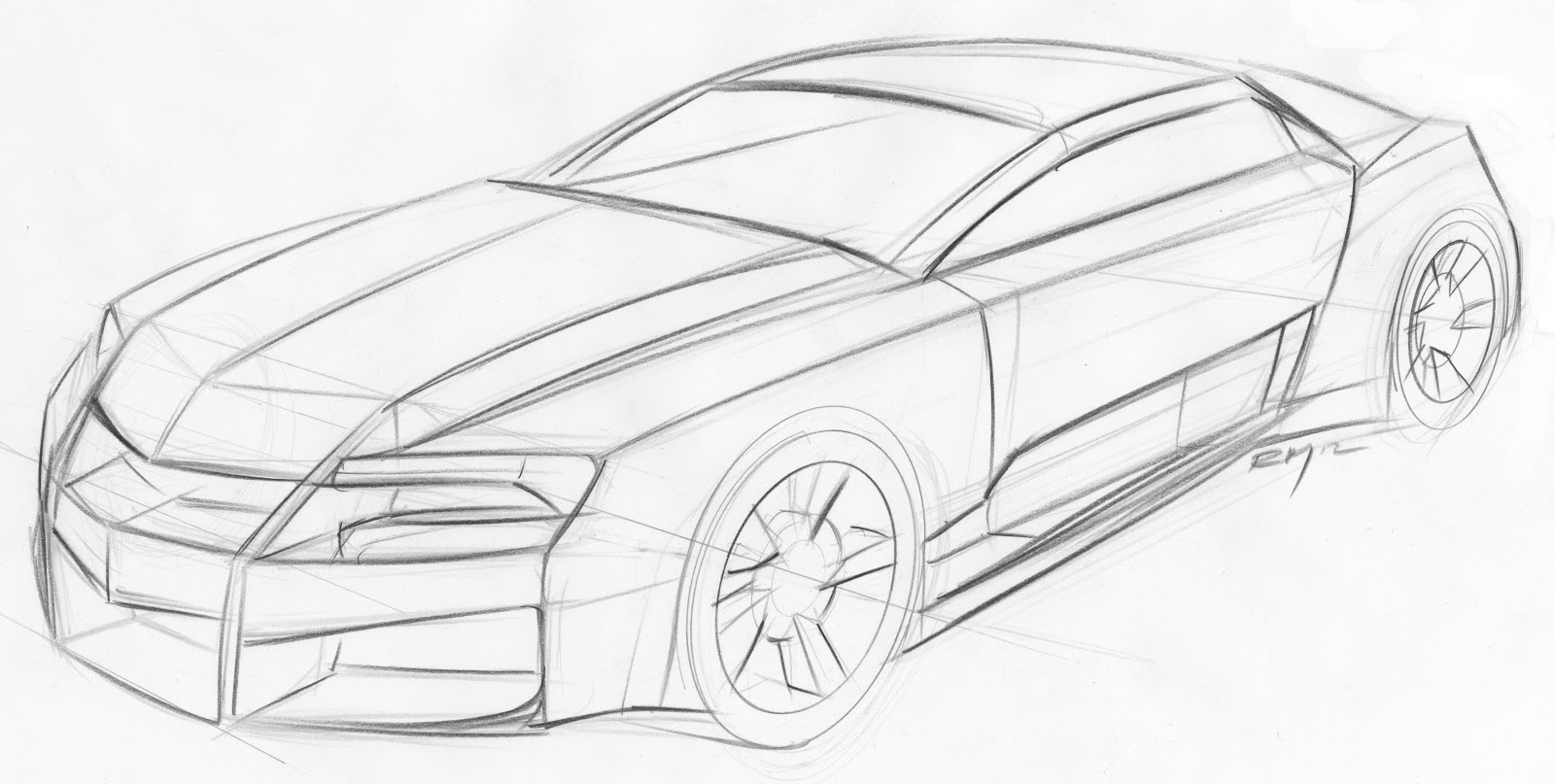 69 Camaro Sketch Templates
