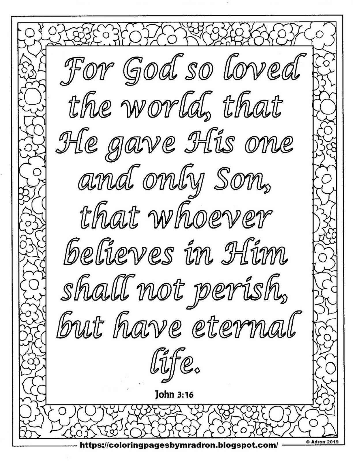 coloring pages for kids by mr adron free john 3 16 print and color page for lent day 23 free john 3 16 print and color page for