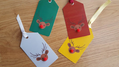 Reindeer Gift Tags - with free printable