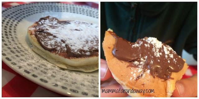 pancake con la nutella