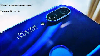 in addition to Purple color variants are launched for this latest Huawei band Huawei Nova 3i launched amongst Kirin 719 processors