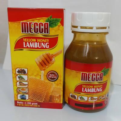 Madu Kuning Sehat Lambung Obat Maag Gerd Asam Lambung Mecca 350 gram