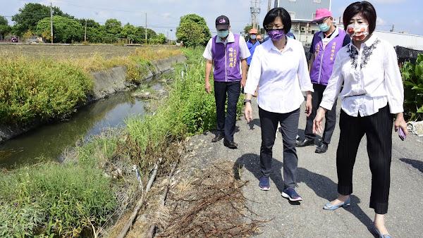 二水、溪州道路及排水護岸破損 視察改善路不平及排水護岸