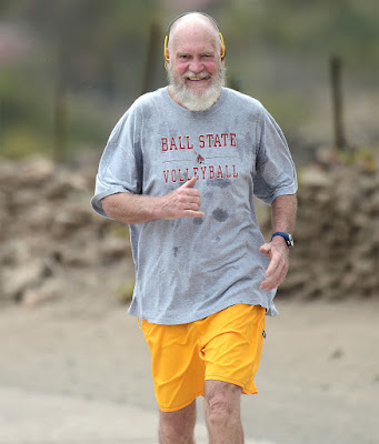 David Letterman Running Without Shoes