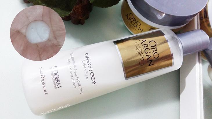 Bioderm Oro Argan Shampoo e máscara